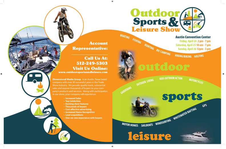 Outdoor Sports And Leisure Brochure  Majestic Bulldog Design