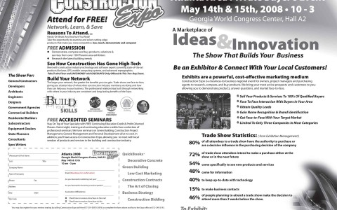 Construction Expo Newspaper Ad